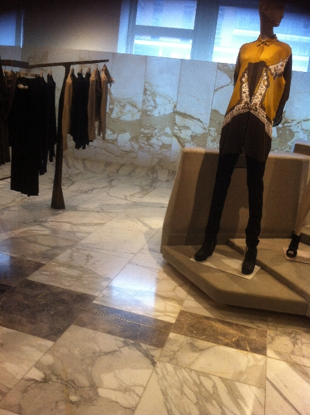 Selfridges Marble Floor Screen
